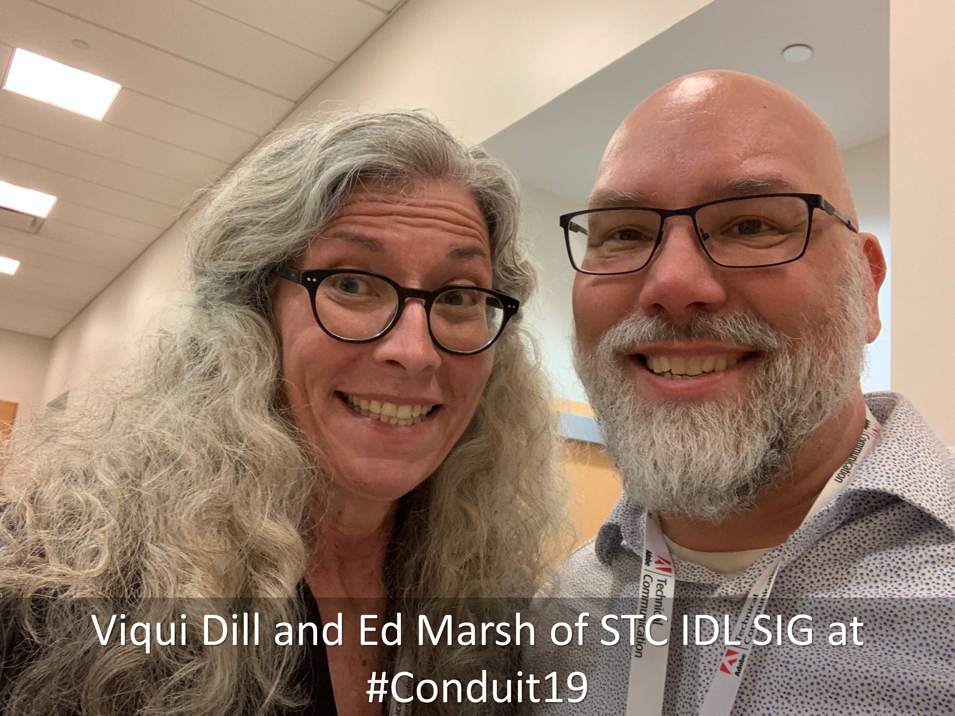 20 Viqui Dill and Ed Marsh of STC IDL SIG at Conduit19