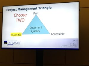 Li-At Rathbun puts her own spin on the project constraints triangle: fast, accurate, accessible.