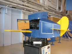 The Link Trainer, the first flight simulator, built in 1929.