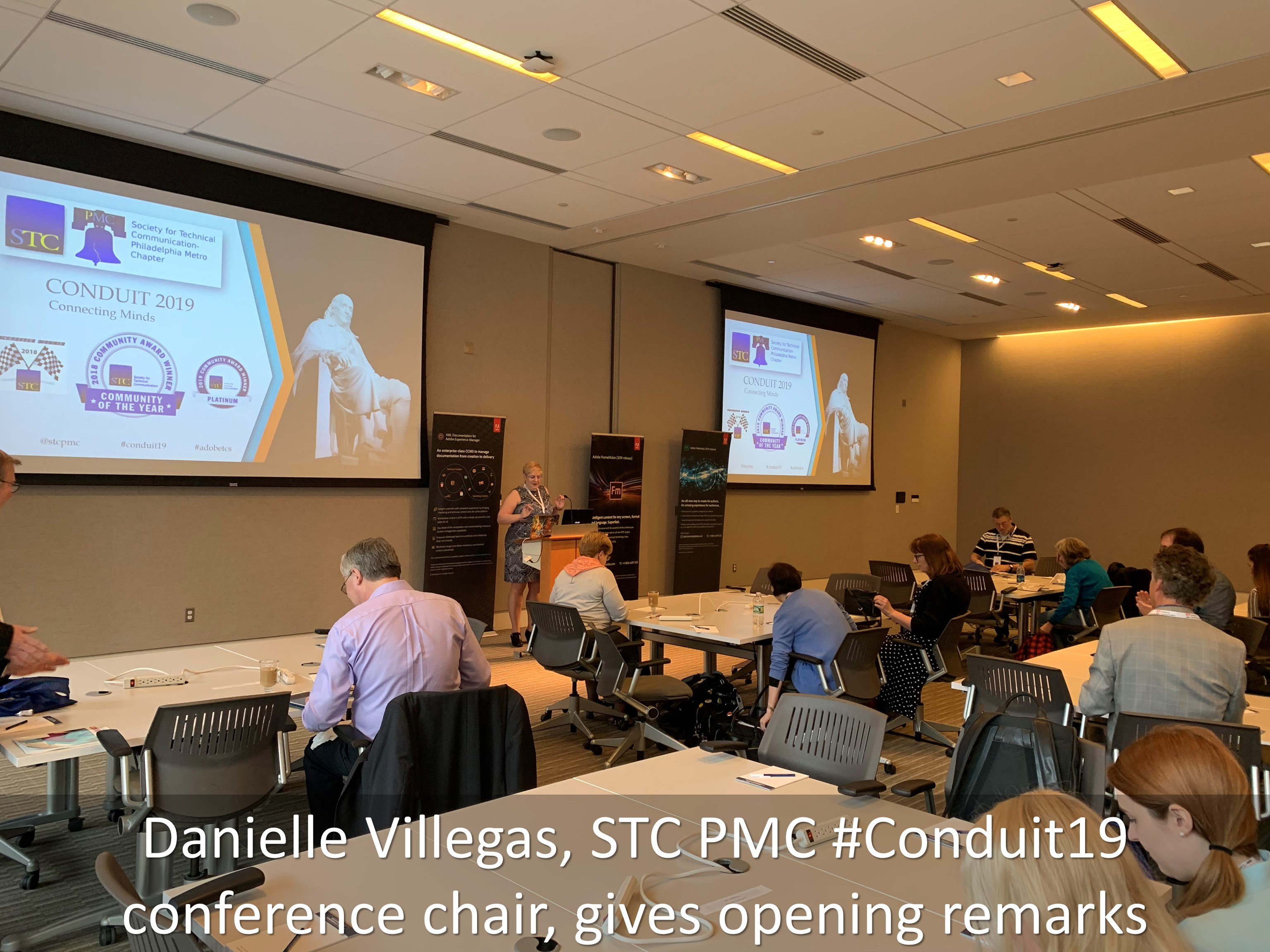 01 Danielle Villegas STC PMC Conduit19 conference chair gives opening remarks