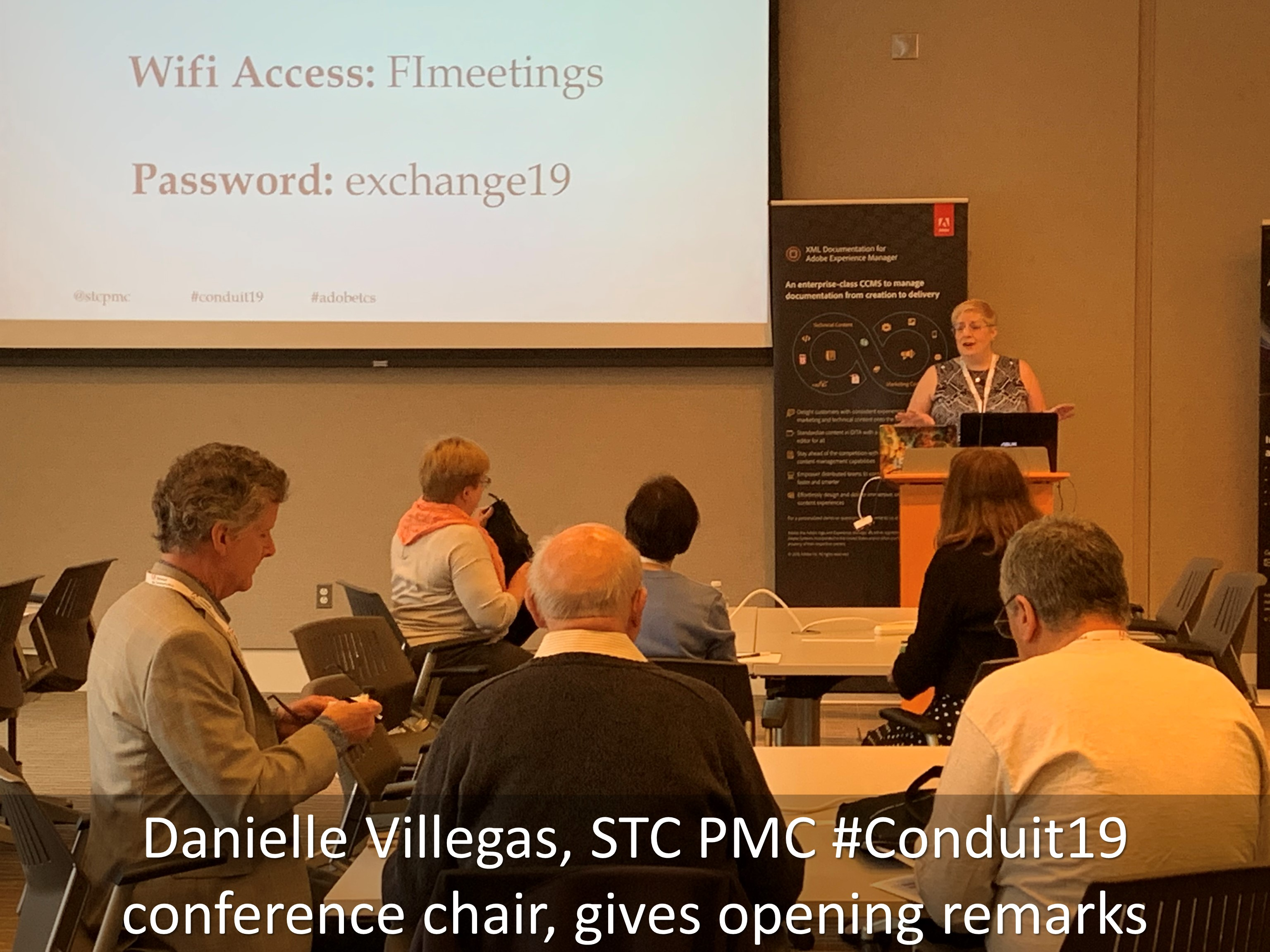 02 Danielle Villegas STC PMC Conduit19 conference chair gives opening remarks2