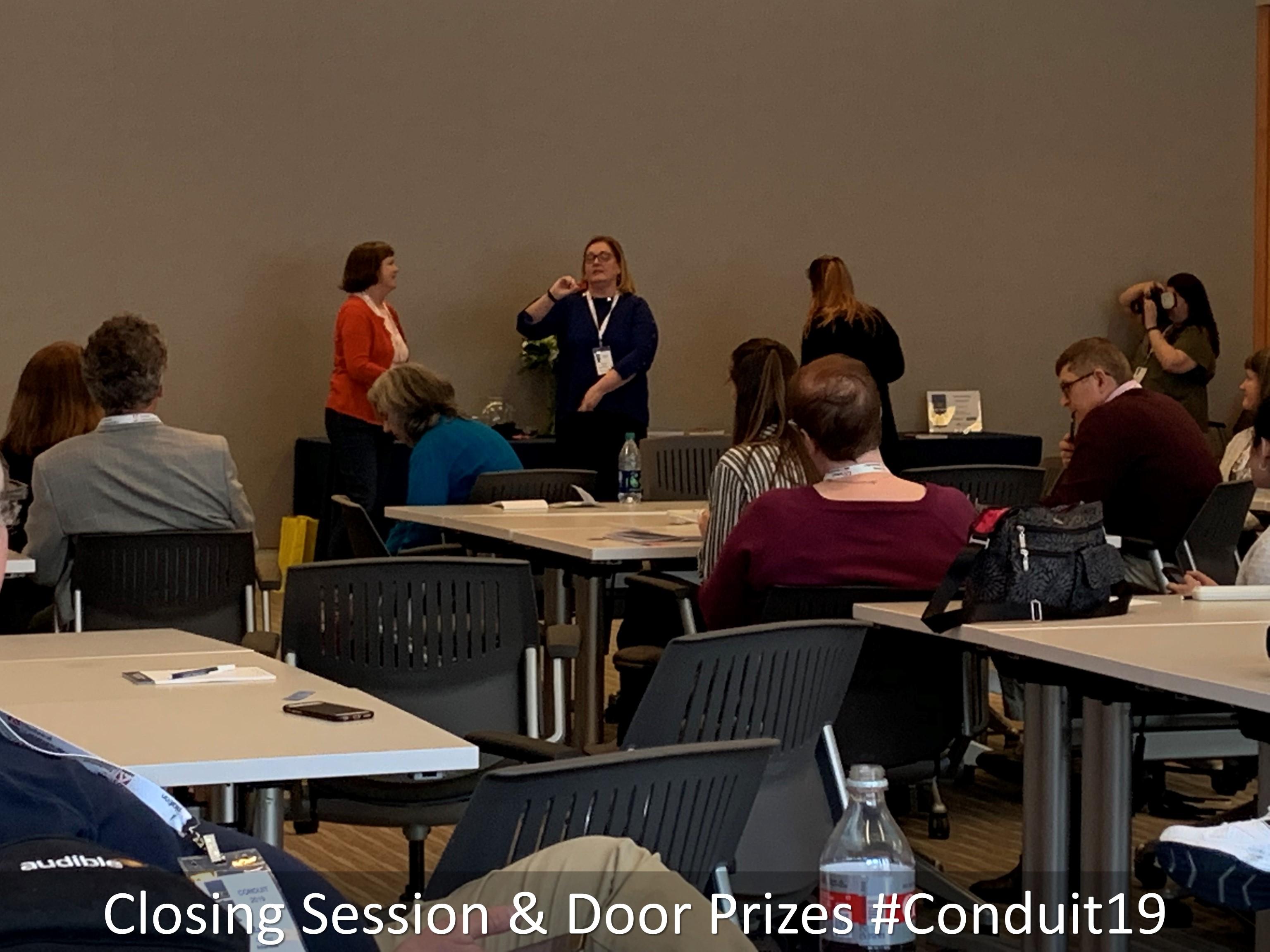 14 Closing Session Door Prizes Conduit19
