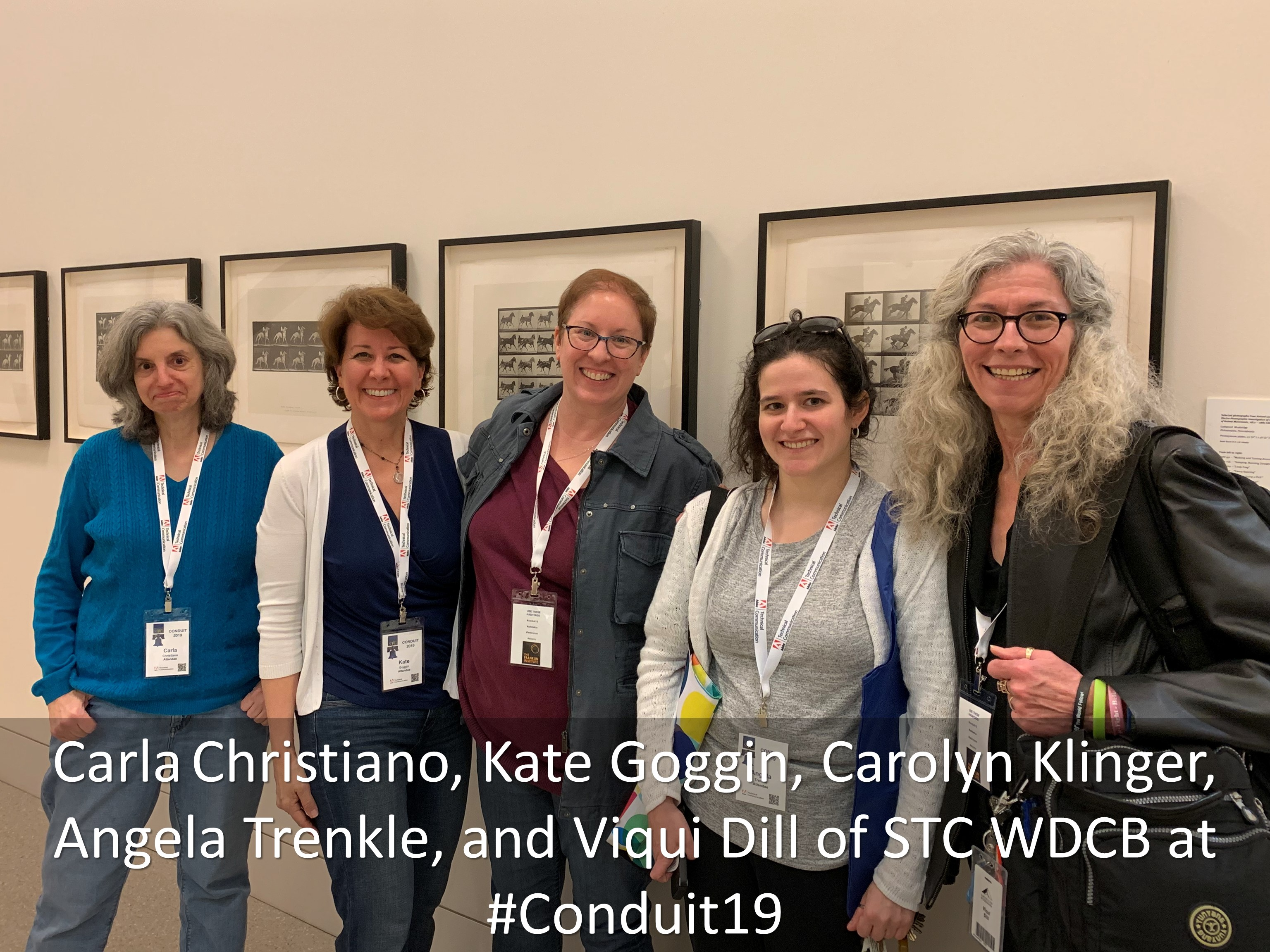 18 Carla Christiano Kate Goggin Carolyn Klinger Angela Trenkle and Viqui Dill of STC WDCB at Conduit19