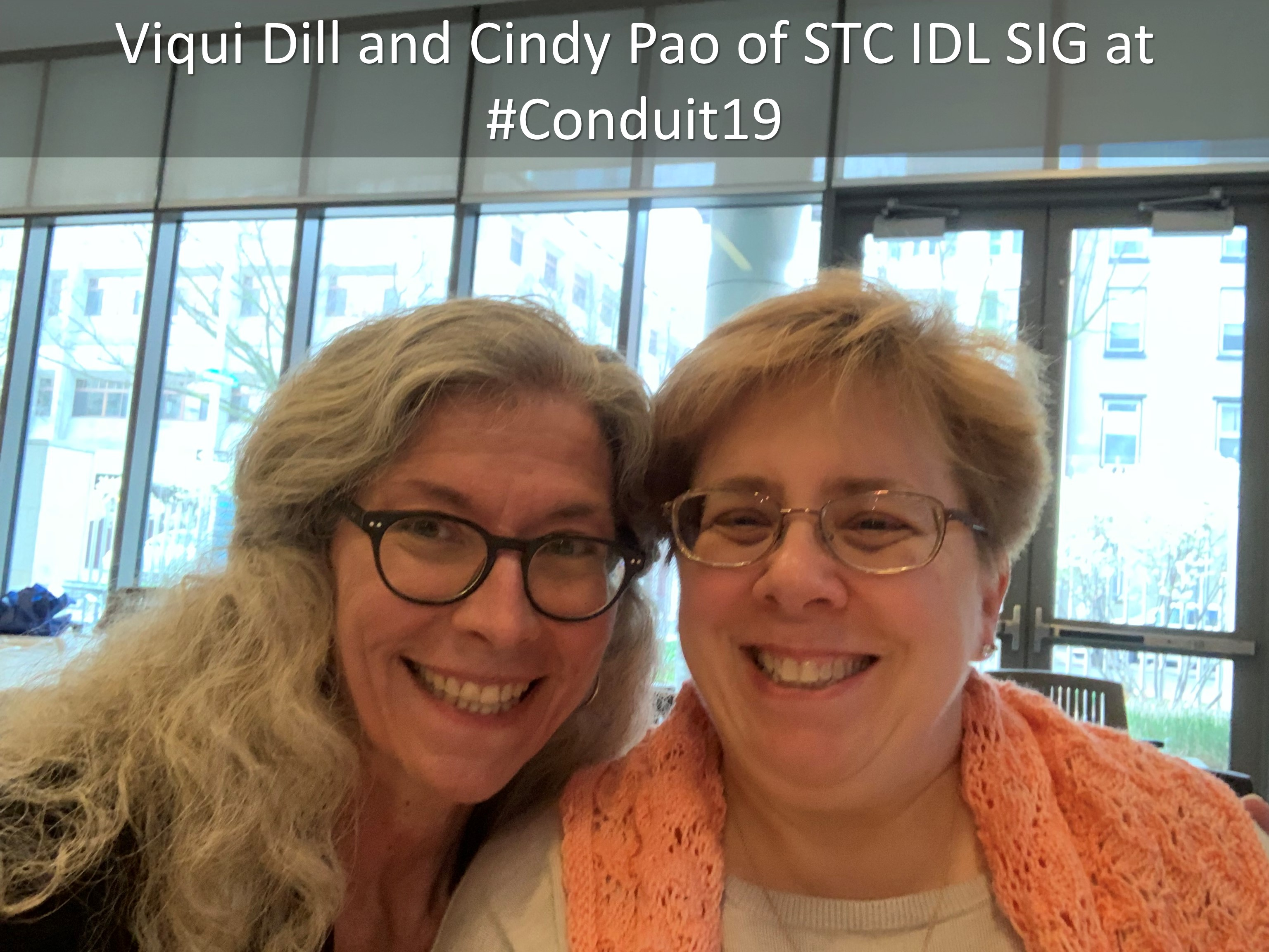 19 Viqui Dill and Cindy Pao of STC IDL SIG at Conduit19